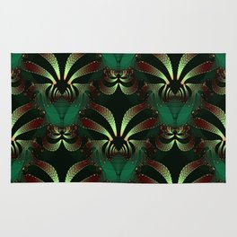 Jewels of Garnet and Emerald Abstract #212 Rug