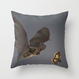 Brown Long-eared Bat Throw Pillow