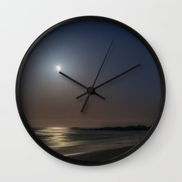 Laguna Moonset from Main Beach Wall Clock