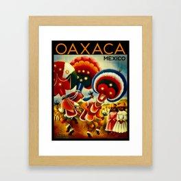 Oaxaca Mexico Vintage Travel Framed Art Print