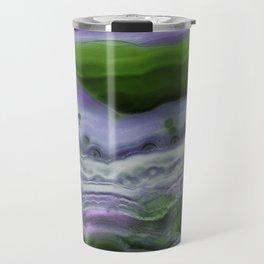 Purple and Green Agate Travel Mug