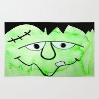 frankenstein Area & Throw Rugs featuring Frankenstein by HollyJonesEcu