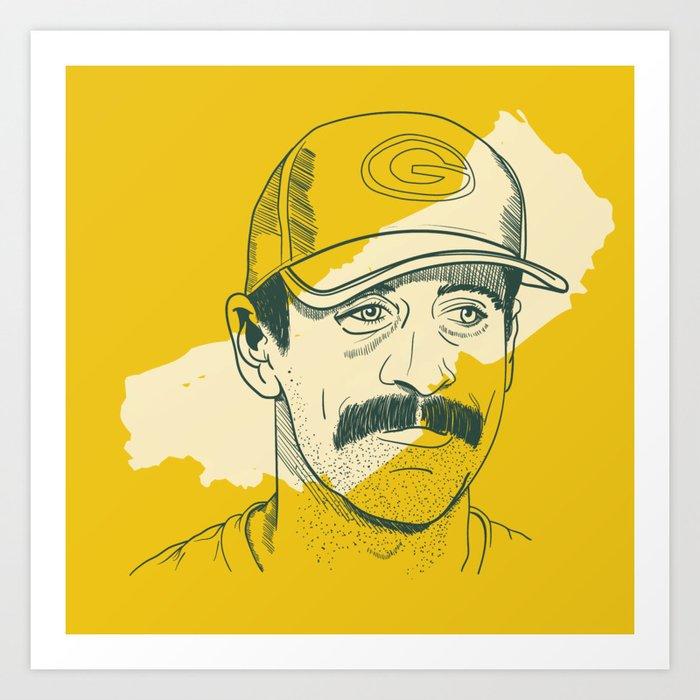 Mustachioed GOAT Kunstdrucke