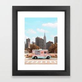 New York Ice Cream Framed Art Print