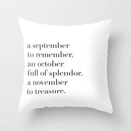 fall poem Throw Pillow