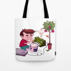 Digital Orchard Tote Bag