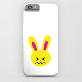 One Tooth Rabbit Emoticons Confounded Bunny Face iPhone Case