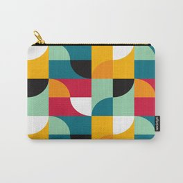Geometric Pattern #31 (yellow red green curves) Carry-All Pouch