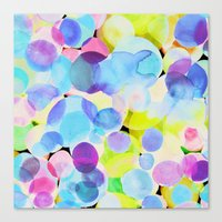 polka dot Canvas Prints featuring Polka Dot by Amy Sia