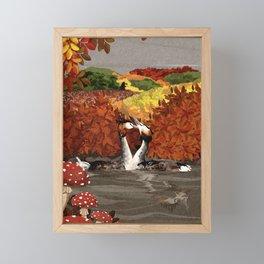 Great Crested Grebes Framed Mini Art Print