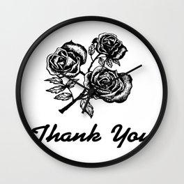 Thank You Roses Wall Clock