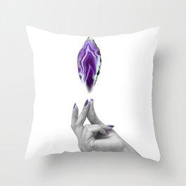 Snap (Agate Magic) Throw Pillow