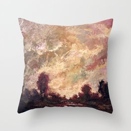 Rosy Clouds Throw Pillow