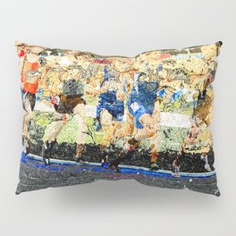 Track and field runners Pillow Sham