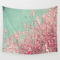 blossom Wall Tapestries featuring Blossom by Cassia Beck