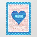 """The word """"Friends"""" in different languages of the world in the heart by azin-v"""