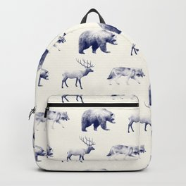 Wild Pattern // Blue Backpack