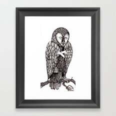 Owl being Framed Art Print