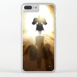 Angel In A Tunnel Of Light Clear iPhone Case