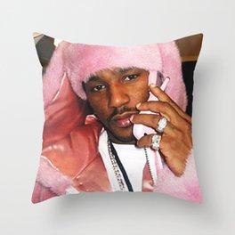 Cam'ron Pink Fur mood Throw Pillow