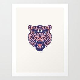 Third Eye Tiger Art Print