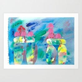 10 Penny the Pink Elephant Art Print