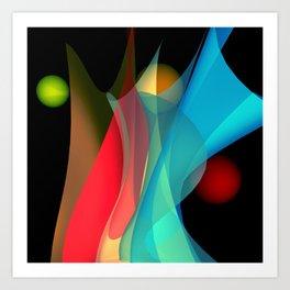 bicubic waves -5- Art Print
