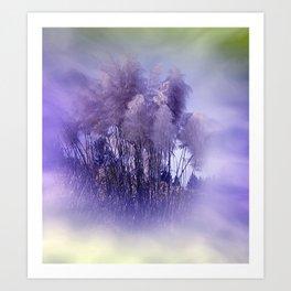 Pampas Grass - impression in violet Art Print
