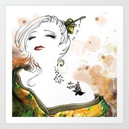 White lady Art Print