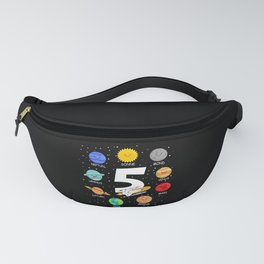Children 5 Years Old Birthday Boy Space Fanny Pack