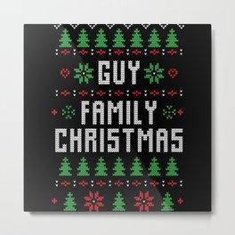 Guy Family Christmas Metal Print