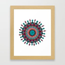 Heart and Soul Mandala Framed Art Print