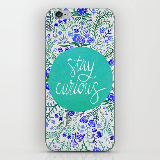 Stay Curious – Navy & Turquoise iPhone & iPod Skin