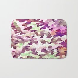 Foliage Abstract Pop Art In Ultra Violet and Fuchsia Pink Bath Mat