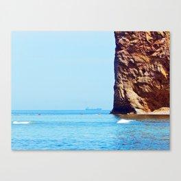 Man and Perce Rock Canvas Print
