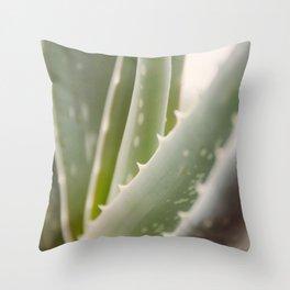 Green Blades Throw Pillow