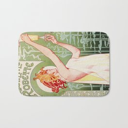 Art Nouveau Absinthe Robette Ad Bath Mat