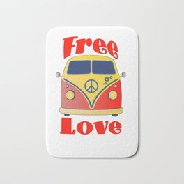 Free Love , festival fantasy with Woodstock in mind Bath Mat