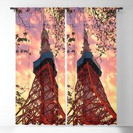 Sunset Series: Tokyo Tower 1 Blackout Curtain