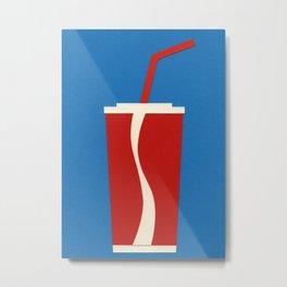 Cup Of Coke Metal Print