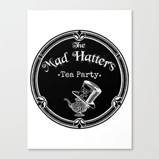 Alice In Wonderland Mad Hatter Tea Party Canvas Print