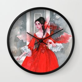 The red dress Wall Clock