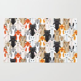 Friendly Foxes Rug
