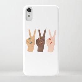 Peace Hands iPhone Case