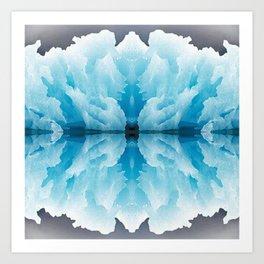 Icy Reflection Art Print