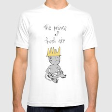 the prince of fresh air White SMALL Mens Fitted Tee