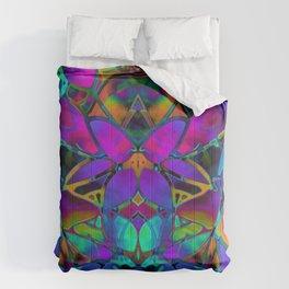 Floral Fractal Art G308 Comforters