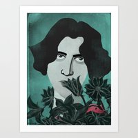 oscar wilde Art Prints featuring Oscar Wilde by Phantasmagoria