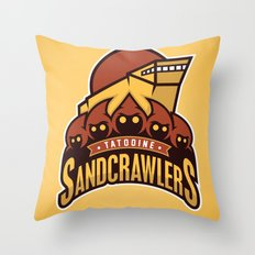 Tatooine SandCrawlers - Gold Throw Pillow