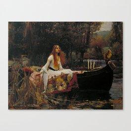 John William Waterhouse - The Lady of Shalott Canvas Print